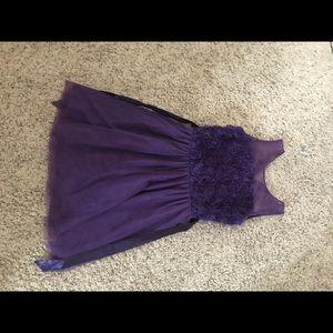 Purple Tie Back Dress